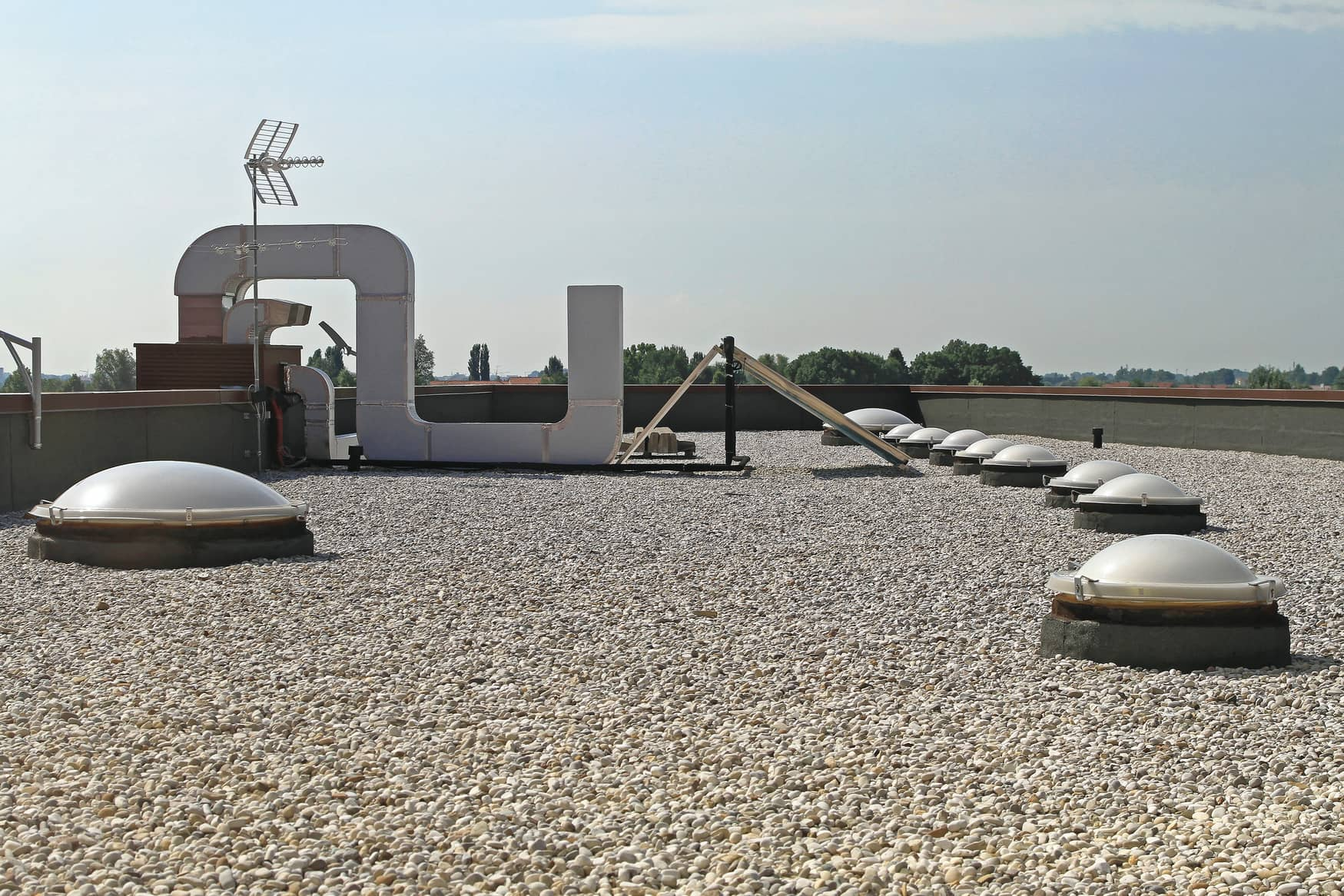 This is an image of a commercial property roofing.