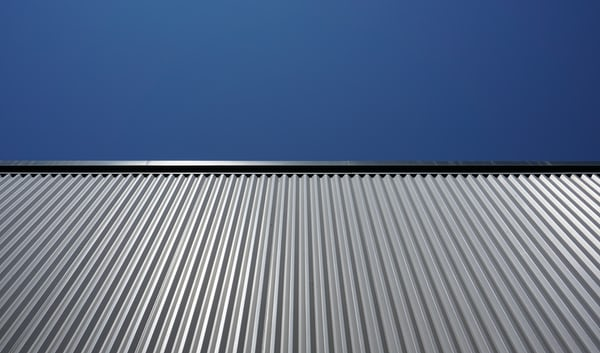 This is an image of a metal roofing installation.