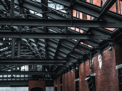 This is an image of a commercial steel roofing.
